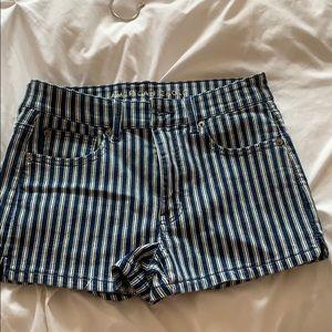 Striped Jean shorts